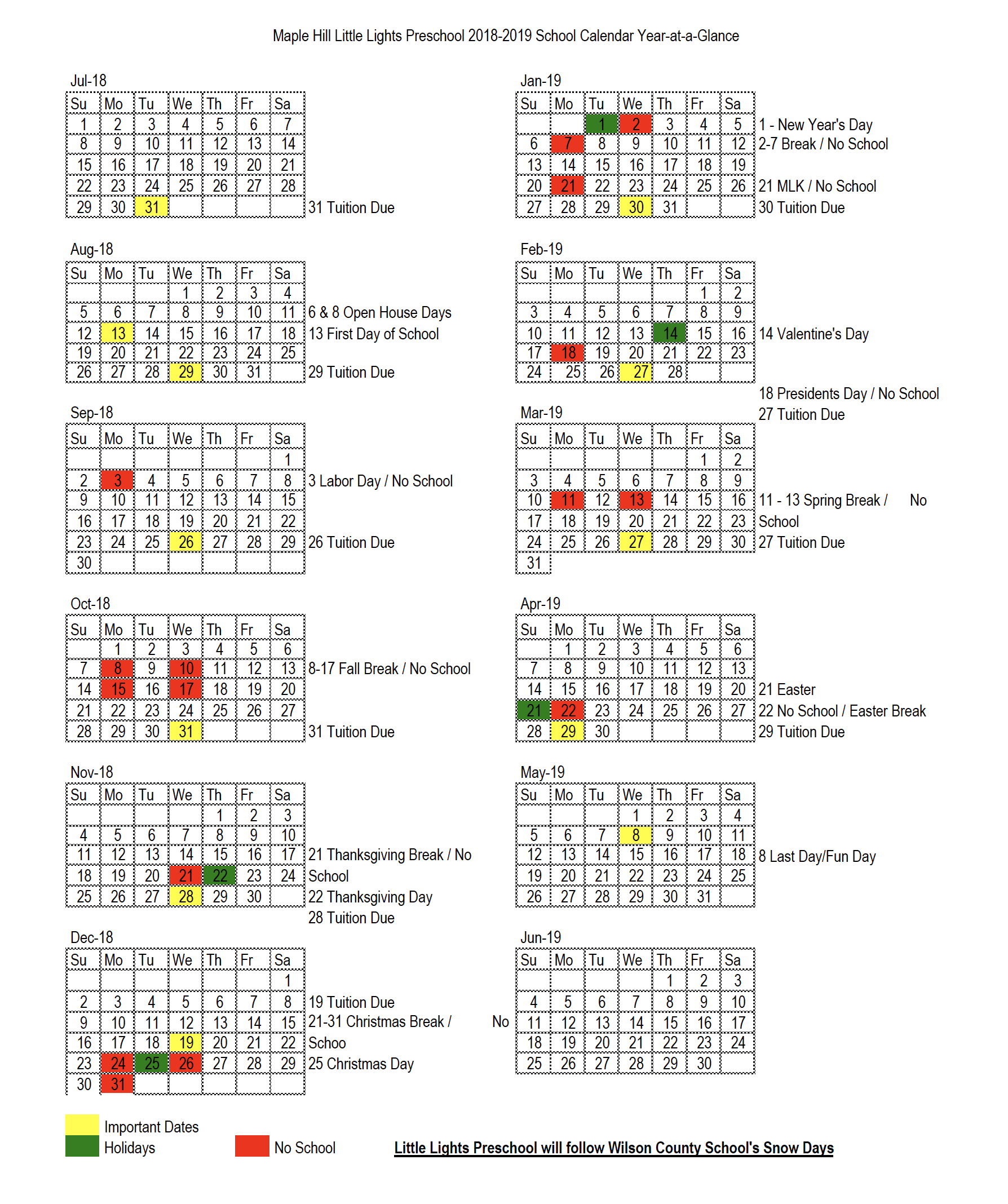 Click On The Calendar For A Downloadable Pdf.