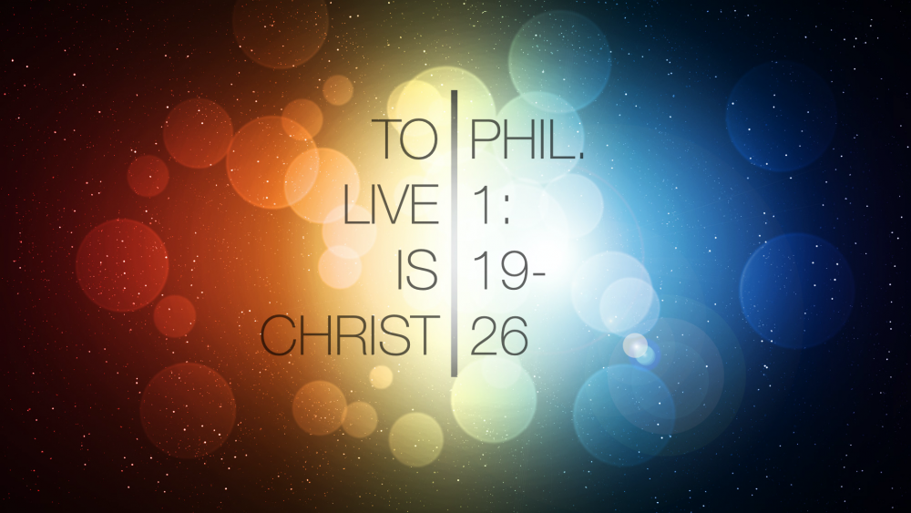 To Live is Christ Image